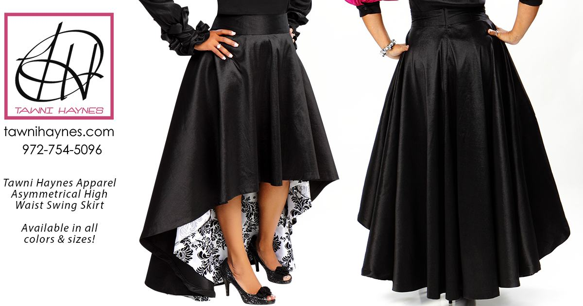 Asymmetrical High Waist Swing Skirt