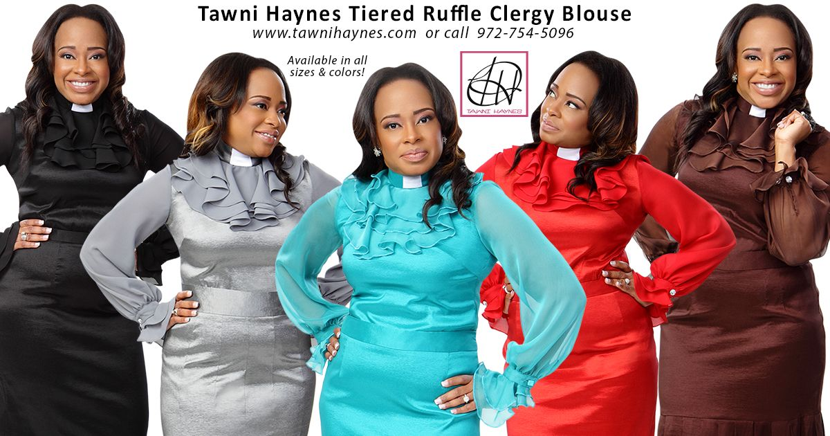 0a587278dce Tiered Ruffle Clergy Blouse – Tawni Haynes Apparel