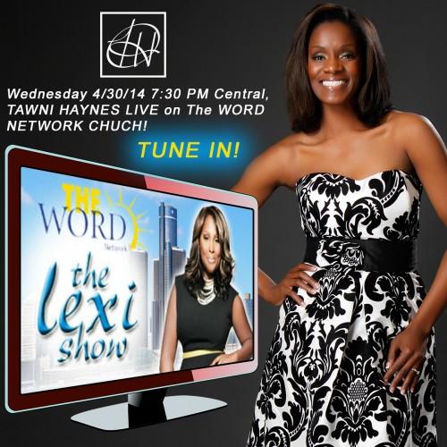 Designer Tawni Haynes LIVE On The Word Network Church ...
