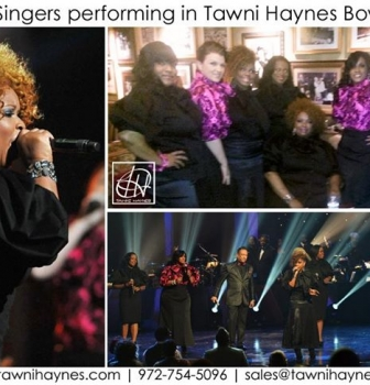Kurt Carr Singers performing in Tawni Haynes Bow Blouses!
