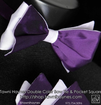 Tawni Haynes Custom 2-Color Bow Tie & Pocket Square
