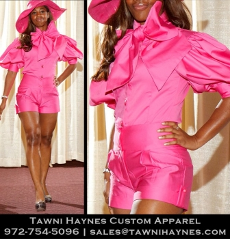 est. $275 Custom Signature Bow Blouse and $235 Shorts