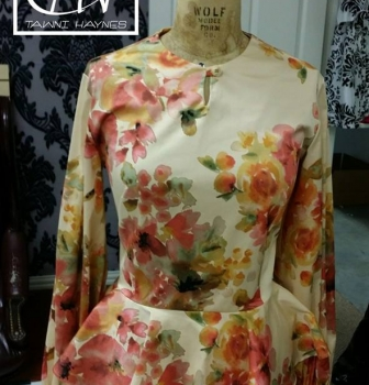 Floral Peplum Blouse for a client. Luv this print!