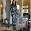1st Lady Daniele Murray in Tea Length Lace Pencil Dress