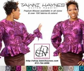 Tawni Haynes Peplum Blouse